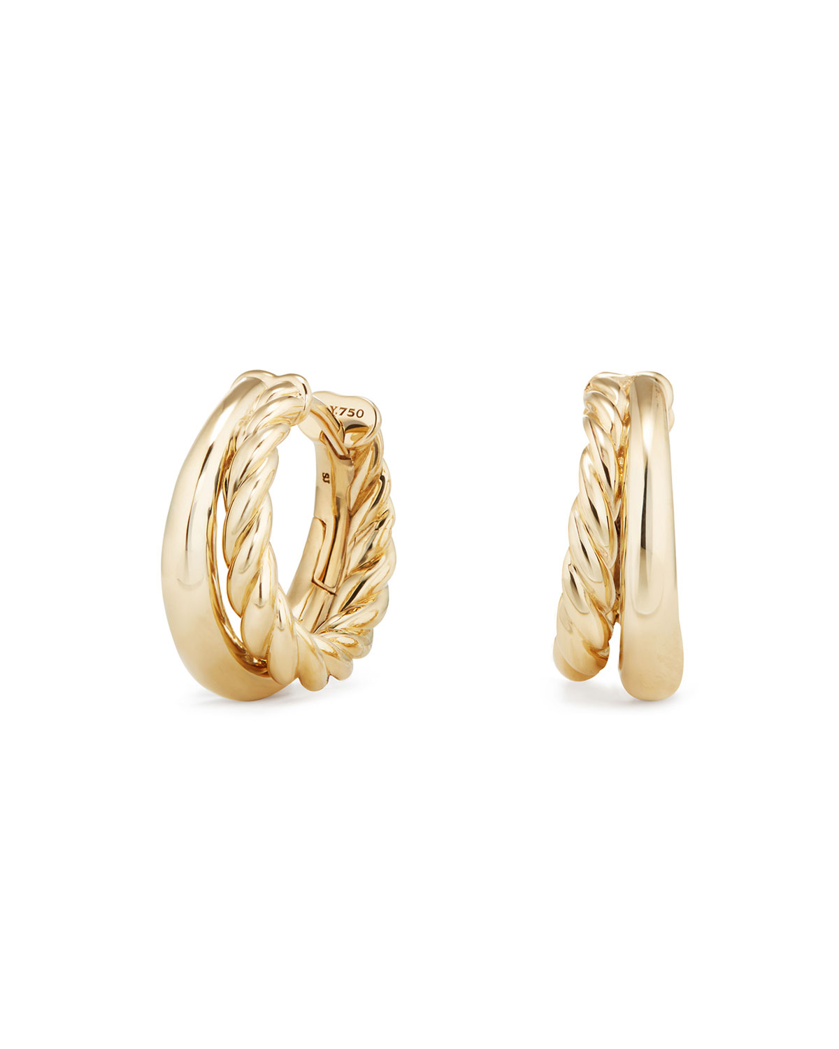 25 5mm Pure Form 18k Gold Hoop Earrings
