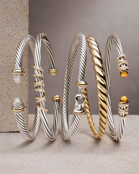 6mm Pure Form 18K Cable Bracelet, Size M