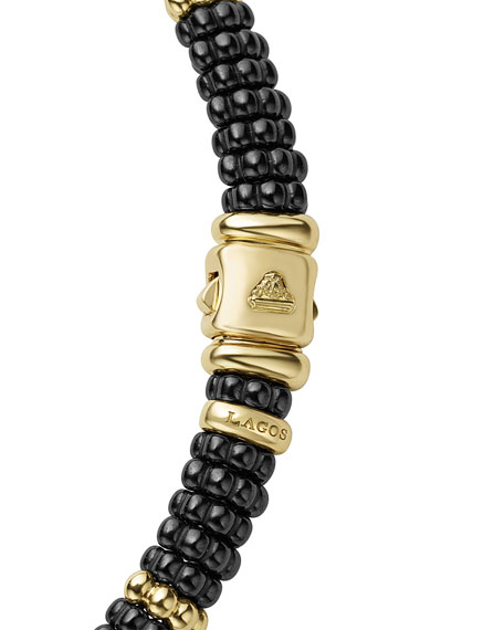 Black Caviar & 18K Gold Single-Strand Necklace