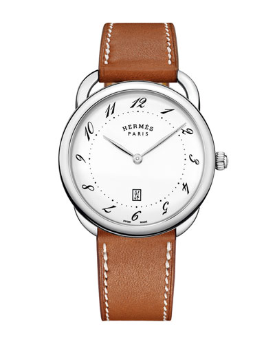 Arceau Watch with Leather Strap