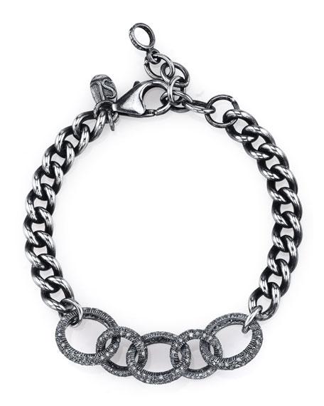 Curb Chain Bracelet with Diamond Links