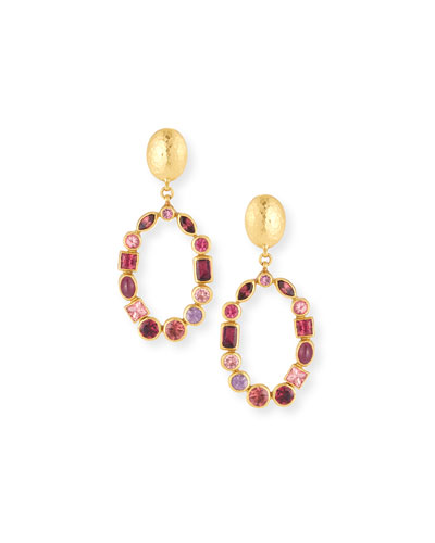 Amulet Hue Open Hoop Drop Earrings