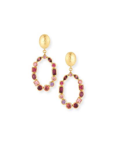 Amulet Hue Open Hoop Drop Earrings