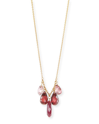 Ruby, Tourmaline & Garnet Briolette Necklace