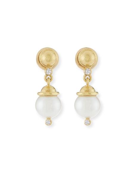 Elizabeth Locke 19k Gold Crane Intaglio & Akoya Pearl Drop Earrings Gqd4Ve7p2S