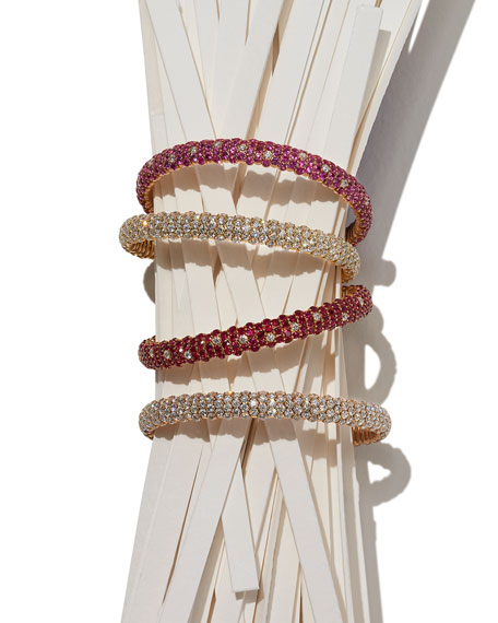 Slim Diamond Stretch Bracelet in 18K Rose Gold, 10.49 tdcw