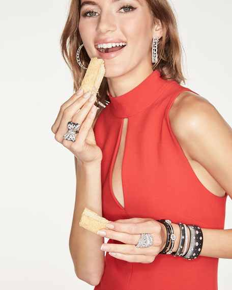 18K White Gold Matte Black Ceramic & Diamond Bracelet