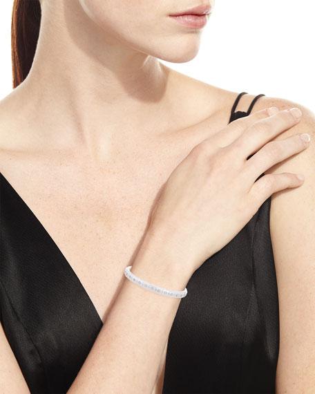 18K White Gold White Ceramic & Diamond Bracelet
