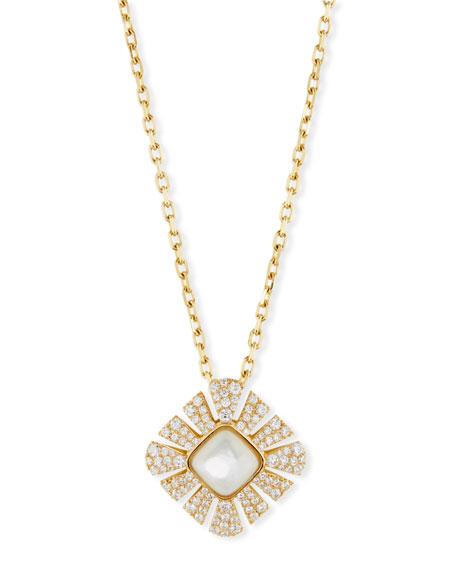 Vesuvio Mother-of-Pearl & Diamond Pendant Necklace