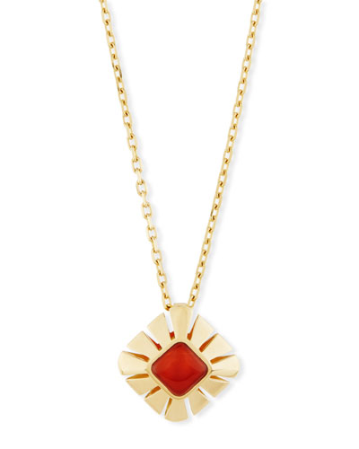 Vesuvio Carnelian & 18K Gold Pendant Necklace