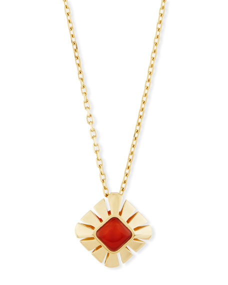 Vesuvio Carnelian & 18K Gold Pendant Necklace