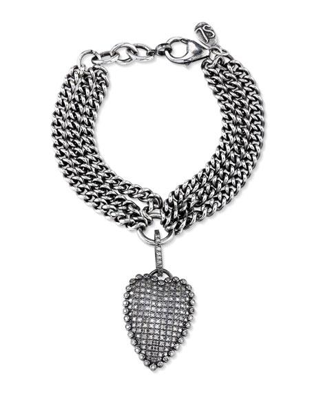 Sheryl Lowe Curb Chain Bracelet with Diamond Malta Charm x7kIhv