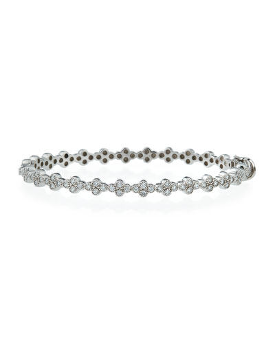 Diamond Quad Bracelet in 18K White Gold