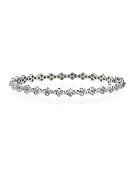 Diamond Quad Bracelet in 18K White Gold