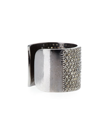 Pavé Diamond Cuff Ring, Size 8.5