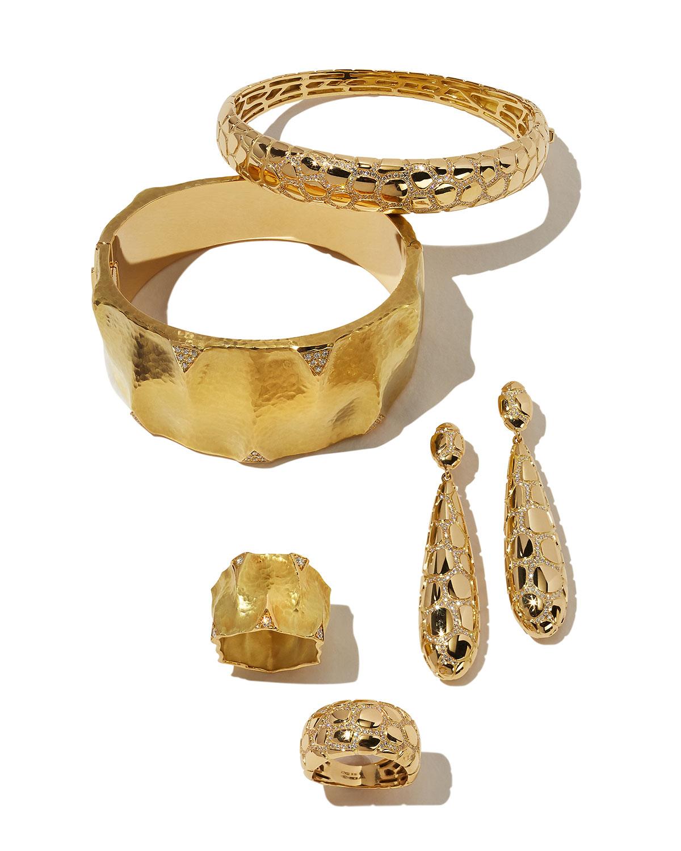 Vendorafa Anaconda 18K Gold Earrings with Diamonds F3lCqDU