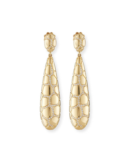 Anaconda 18K Gold Earrings with Diamonds