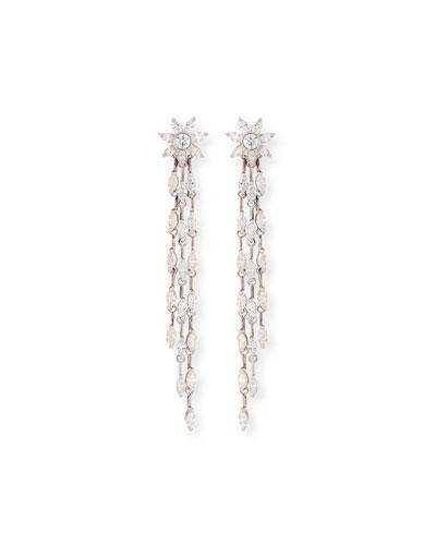 Round & Marquis Diamond Dangle Drop Earrings
