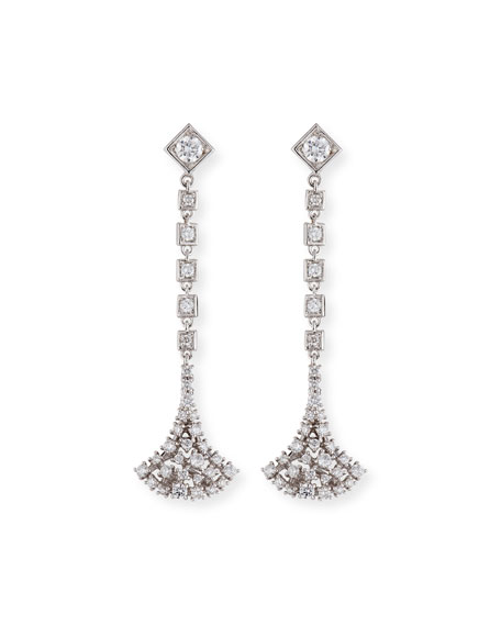 Mariani Fan-Shaped Diamond Dangle Earrings