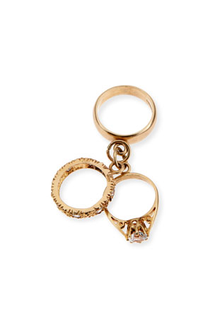 Turner & Tatler 9K Yellow Gold Three-Ring Charm