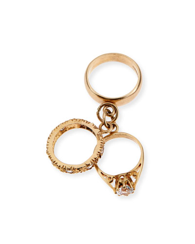 9K Yellow Gold Three-Ring Charm