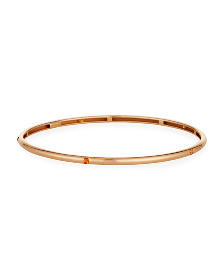 18K Rose Gold Bracelet with Orange Sapphires
