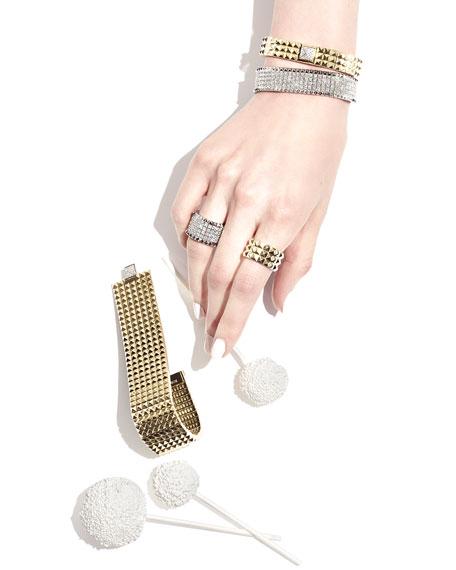 Rock & Diamonds 18K White Gold Bangle