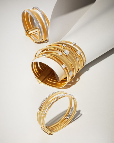 Masai Five-Strand Crossover Bracelet with Diamonds