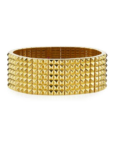 Rock & Diamond Flex Bracelet with Diamond Clasp