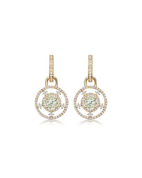 Apollo Green Amethyst & Diamond Drop Earrings