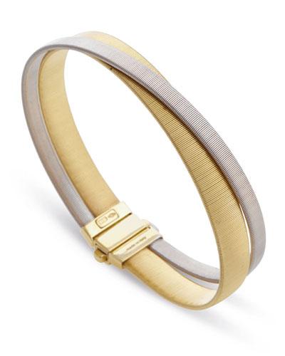 Masai Two-Strand 18K Yellow & White Gold Crossover Bracelet