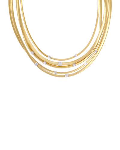 Masai Five-Strand Necklace with Diamonds
