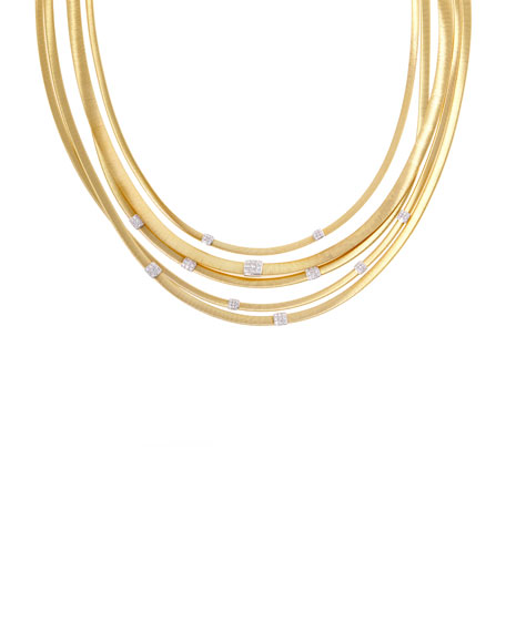 Masai Five-Strand Necklace with Diamonds