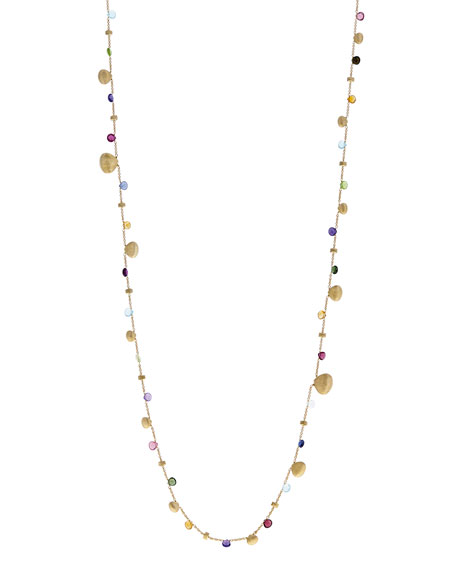 Paradise Graduated Long Necklace with Mixed Gemstones