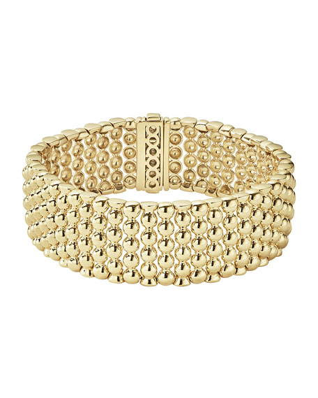 Lagos 18K Gold Bold Caviar Rope Bracelet uDpoK6r4Q