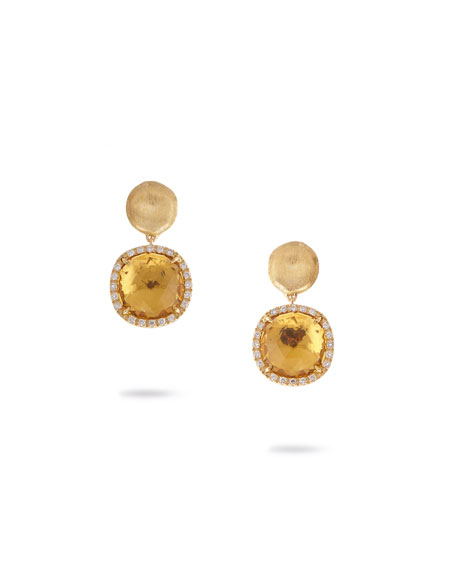 Marco Bicego Jaipur Drop Earrings with Citrine &