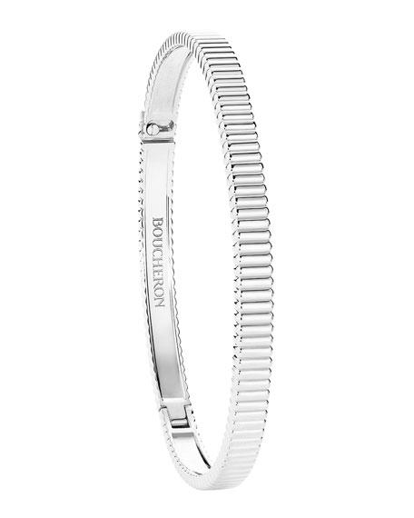 Quatre Grosgrain Bracelet in 18K White Gold