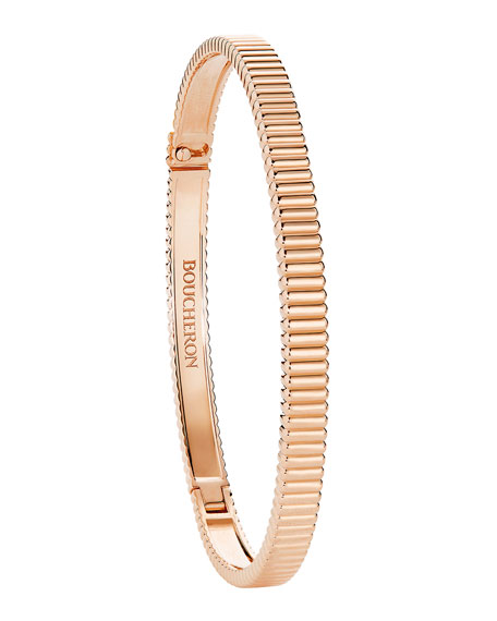 Quatre Grosgrain Bracelet in 18K Rose Gold