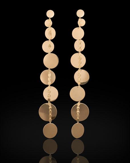 Linear 9-Disc Drop Earrings