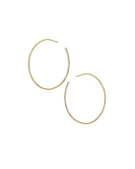 Flawless Large Hoop Earrings with Diamonds