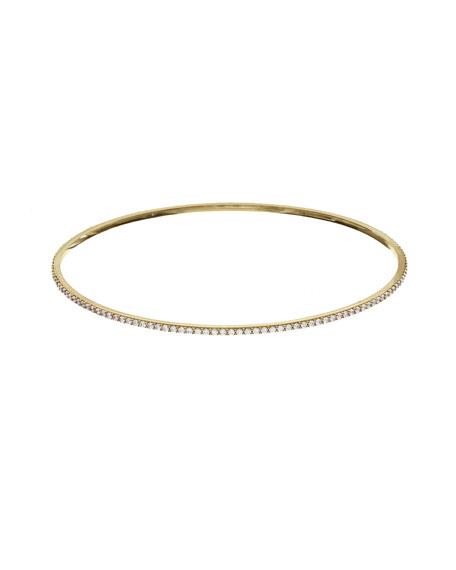 Flawless All-Around Diamond Bangle in 14K Yellow Gold