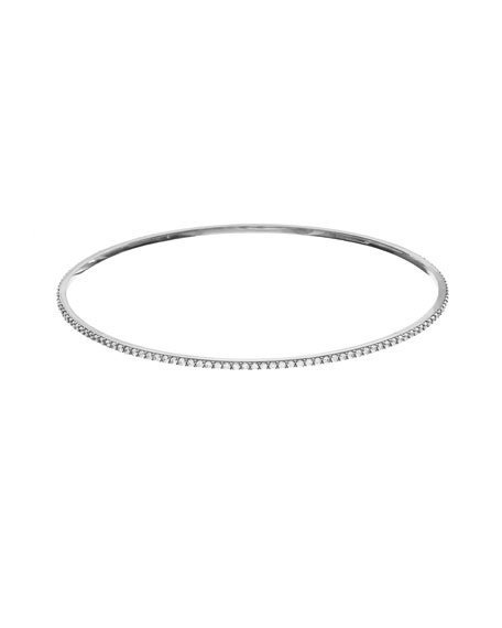 Flawless All-Around Diamond Bangle in 14K White Gold