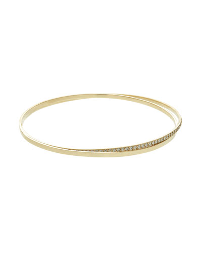 Flawless Bangles with Diamonds, Set of Two