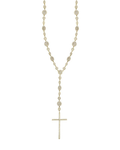 Legacy Crossary Necklace with Diamonds