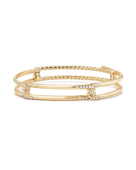 David Yurman 9mm Continuance 18K Gold Bracelet with