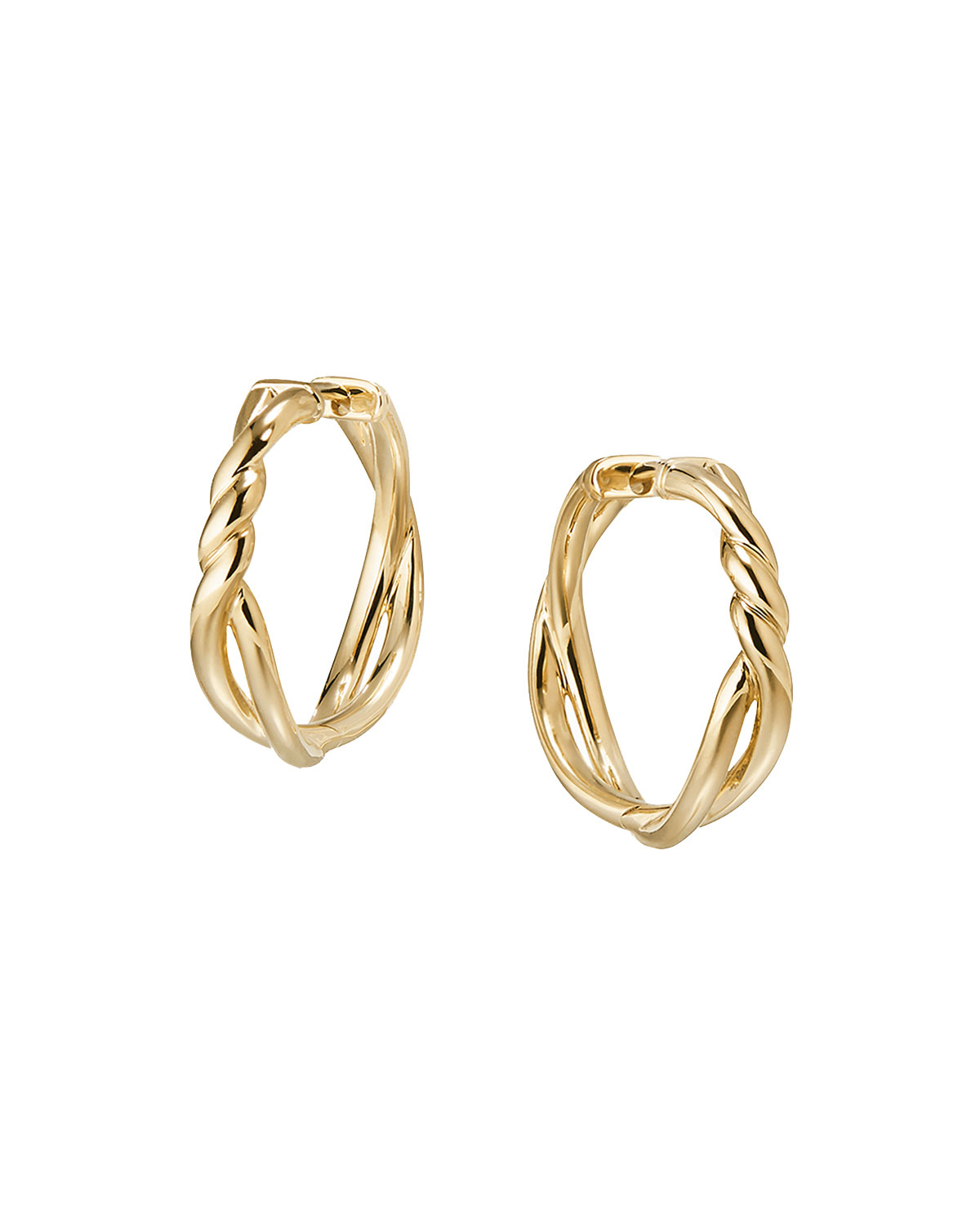 deda6309e60e6 David Yurman 21mm Continuance 18K Gold Hoop Earrings