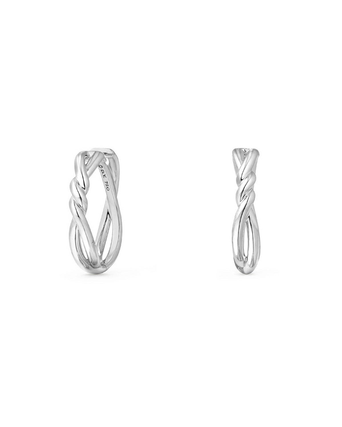76eecdaf5be9c David Yurman 21mm Continuance Hoop Earrings in 18k White Gold ...