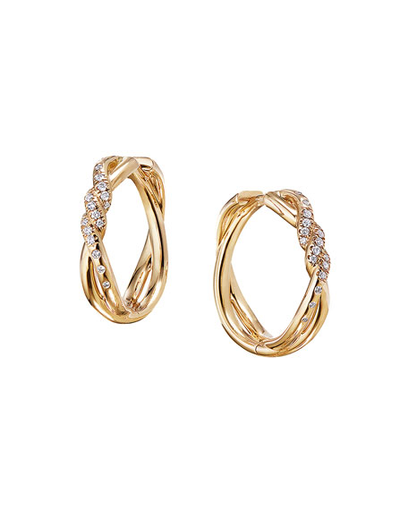 David Yurman 21mm Continuance 18K Hoop Earrings with