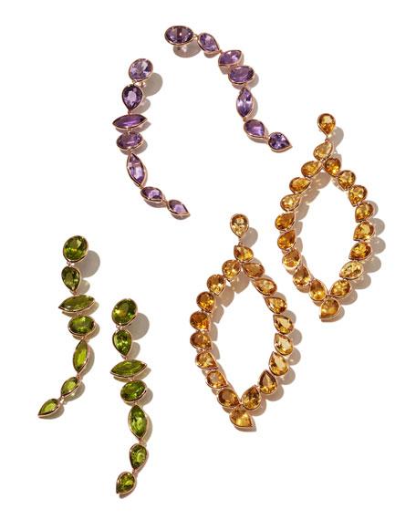 Mixed-Cut Amethyst Drop Earrings in 18K Rose Gold