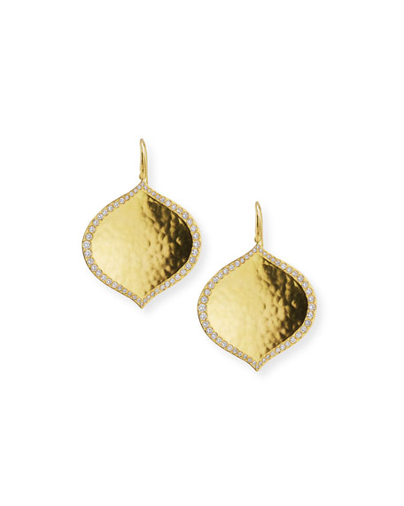 Pallavi Hammered Earrings with Diamonds